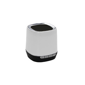 Enceinte portable Bluetooth 2,1 - WMA/MP3 - Slot Micro SD- Fonction Mains libres - batterie 300mAh - couleur blanc