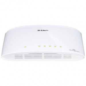 Switch Non Administrables - D-Link 5 ports 10/100/1000 Mbps - Plastique