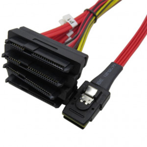 Cable mini-SAS (SFF-8087) / 4 X SAS (SFF-8482)