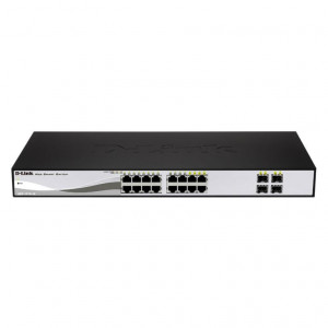Switch Web managé - D-Link Smart 16 ports 10/100/1000Mbps dont 4 ports Combo 1000BaseT/SFP