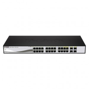 Switch Web managé - D-Link Smart 24 ports 10/100/1000Mbps dont 4 ports Combo 1000BaseT/SFP