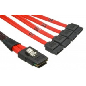 Cable mini-SAS SFF-8087 / 4 X SATA 7 pins