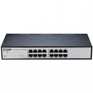 Switch Web managé - D-Link Easy Smart 16 ports 10/100/1000Mbps sans ventilateur