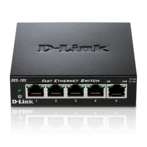 Switch Non Administrables - D-Link 5 ports 10/100Mbps - Métallique