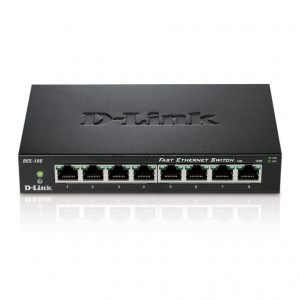 Switch Non Administrables - D-Link 8 ports 10/100/1000Mbps - Métallique