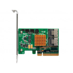 Carte contrôleur - Highpoint RocketRAID 2720 -  8 ports Internes SAS/SATA 6 Gb/s - 2x SFF-8087 (Mini-SAS) - Raid 0,1,5,10,50,JBOD - PCI-Express 2.0 8x - Low Profile - Mac/Win/Linux/FreeBSD