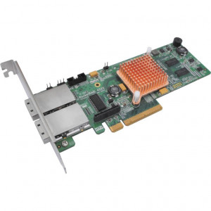 Carte contrôleur - Highpoint RocketRAID 4522 - 8 ports Externes SAS/SATA 6 Gb/s - 2x SFF-8088 (Mini-SAS) - Raid 0,1,5,10,JBOD - PCI-Express 2.0 8x - Low Profile - Mac/Win/Linux/FreeBSD