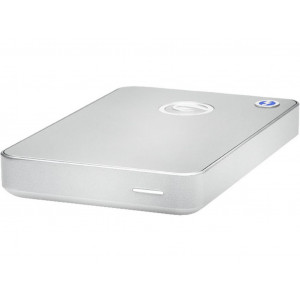 G-DRIVE mobile with Thunderbolt 1TB - USB3.0 / Thunderbolt - HDD 7200rpm - Silver - Jusqu'à 136MBps