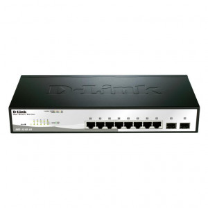 Switch Web managé - D-Link Smart+ 8 ports 10/100/1000Mbps + 2 ports SFP