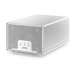 "AKITIO Neutrino Thunder D3 - Boîtier Dual (2 x HDD 2,5"") - interface Thunderbolt et USB3.00 - câbles fournis"