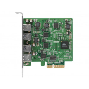 Highpoint RocketU 1144D - Carte PCI 4 x USB 3.0 externes - PCI-Express 2.0 x1 - Mac/Win/Linux/FreeBSD