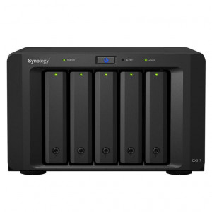 "Châssis d'extension Synology Tour DX517 - Boitier nu - 5 baies 3.5""/2.5"" - Alimentation interne"