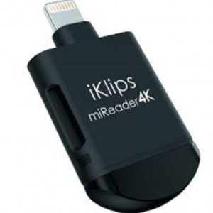 ADAM - iKlips miReader 4K Apple Lightning Card Reader 128GB Black - Dernières pièces