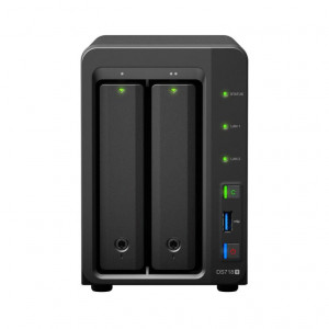 NAS Synology Tour DS718+ 16TB (2 x 8TB) Disque IronWolf