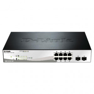 Switch Smart+ 8 ports Gigabit PoE/PoE+  + 2 ports SFP - Budget PoE  130W