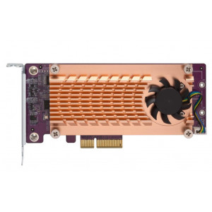 Carte d'extension Dual M.2 22110/2280 SATA SSD (PCIe Gen2 x 2), Low-profile bracket