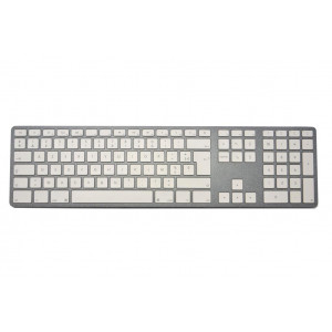 Clavier CTLR APPLE AZERTY Bluetooth corps gris, touches blanches - Mai68