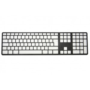 Clavier CTLR APPLE AZERTY Bluetooth corps graphite, touches blanches - Graphite