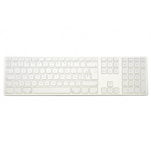 Clavier CTLR APPLE AZERTY Bluetooth corps blanc, touches blanches - Source