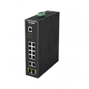 Switch Manageable Smart L2 Industriel 12 ports - 10x Gigabit + 2x SFP - Format Rail-DIN - Prix promo jusqu'au 31/10