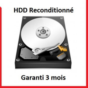 "Disque dur 3,5"" 4TB - 7200rpm - SATA 6Gbps - 64MB - WD RE reconditionné"