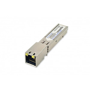 Finisar 1GbE 1000BASE-T Copper SFP Transceiver,3.3V, -40°C to 85°C, RJ-45 connector, 100m, auto-negotiation