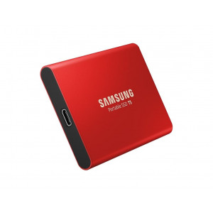 SSD externe portable - 500GB - USB 3.1 / 3.0 / 2.0 - Samsung T5 - Rouge