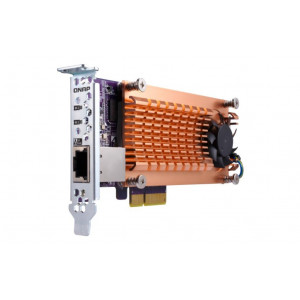 Carte d'extension Dual M.2 22110/2280 SATA SSD (PCIe Gen2 x 4) + 1 port 10GBASE-T, Low-profile bracket