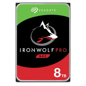 "Disque dur 3,5"" 8TB - 7200rpm - SATA 6Gbps - 256MB - Seagate IronWolf Pro - 24/7"