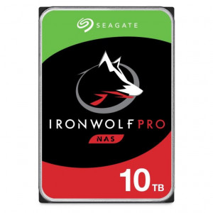"Disque dur 3,5"" 10TB - 7200rpm - SATA 6Gbps - 256MB - Seagate IronWolf Pro - 24/7"